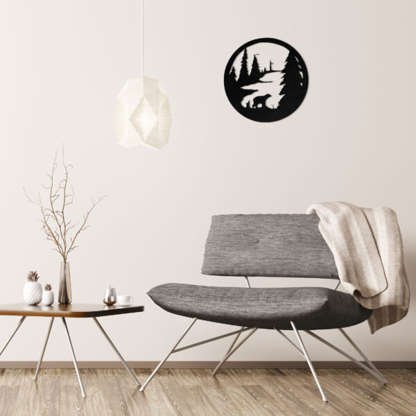 black-bear-circle-over-gray-chair