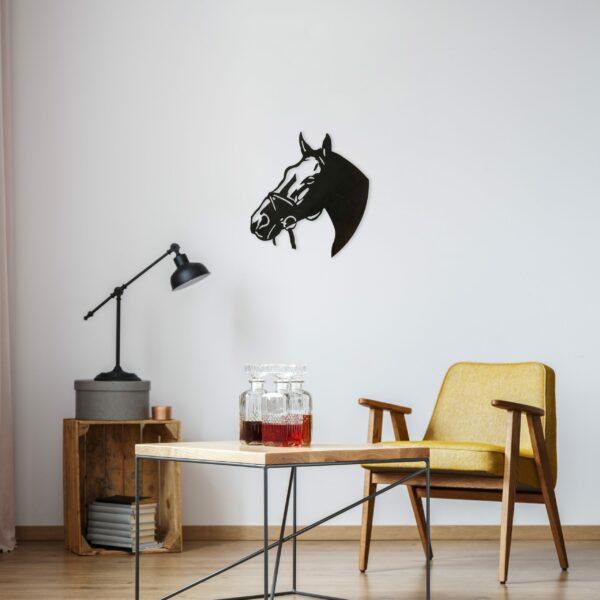 black-horse-head-near-yellow-chair-scaled