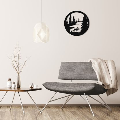 black-moose-circle-over-gray-chair