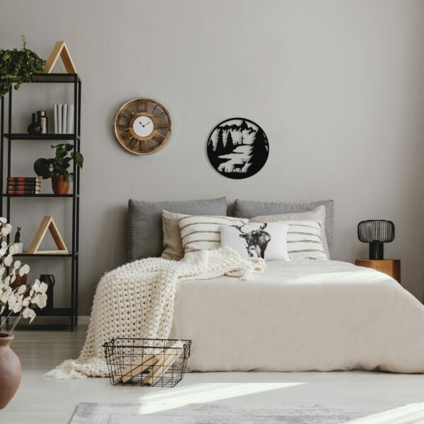 black-standing-deer-circle-over-bed-scaled