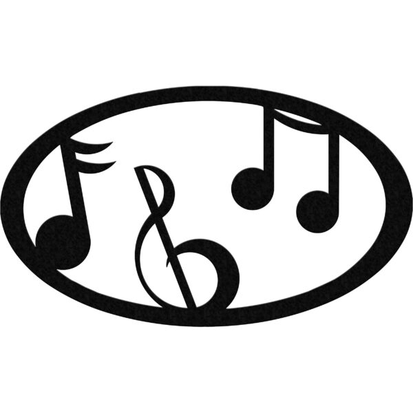 music-oval-black
