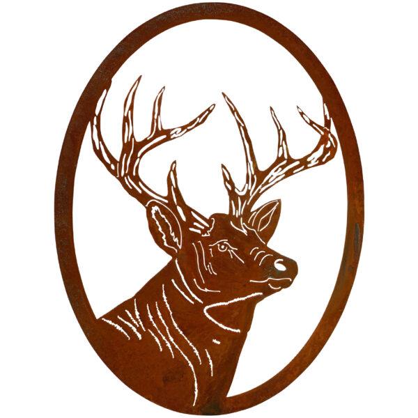 oval-portrait-deer-rust