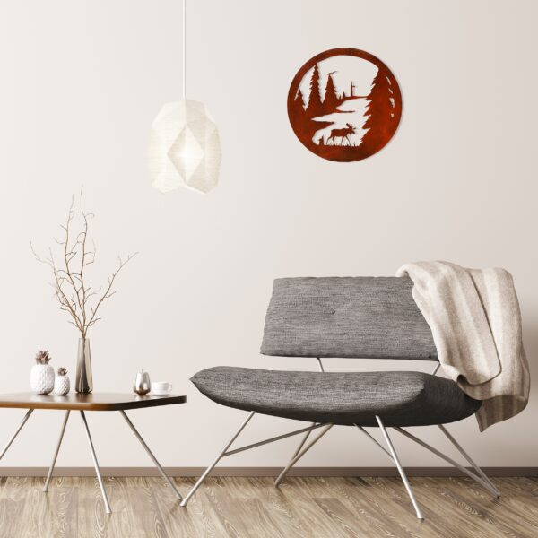 rust-moose-circle-over-gray-chair