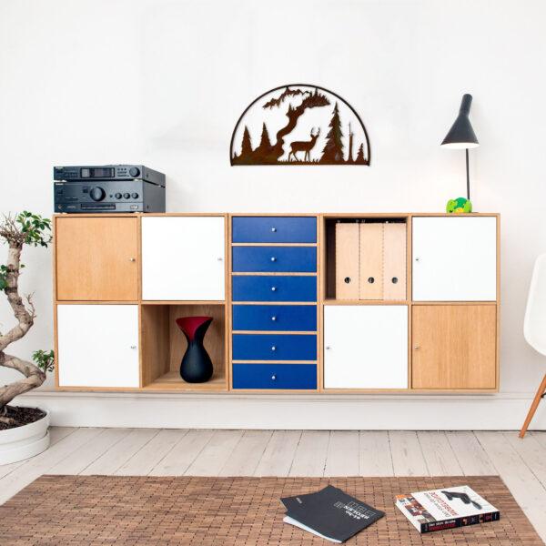 rust-standing-deer-hoop-over-furniture