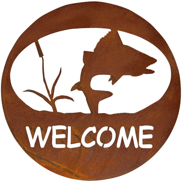 welcome-circle-turning-fish-rust