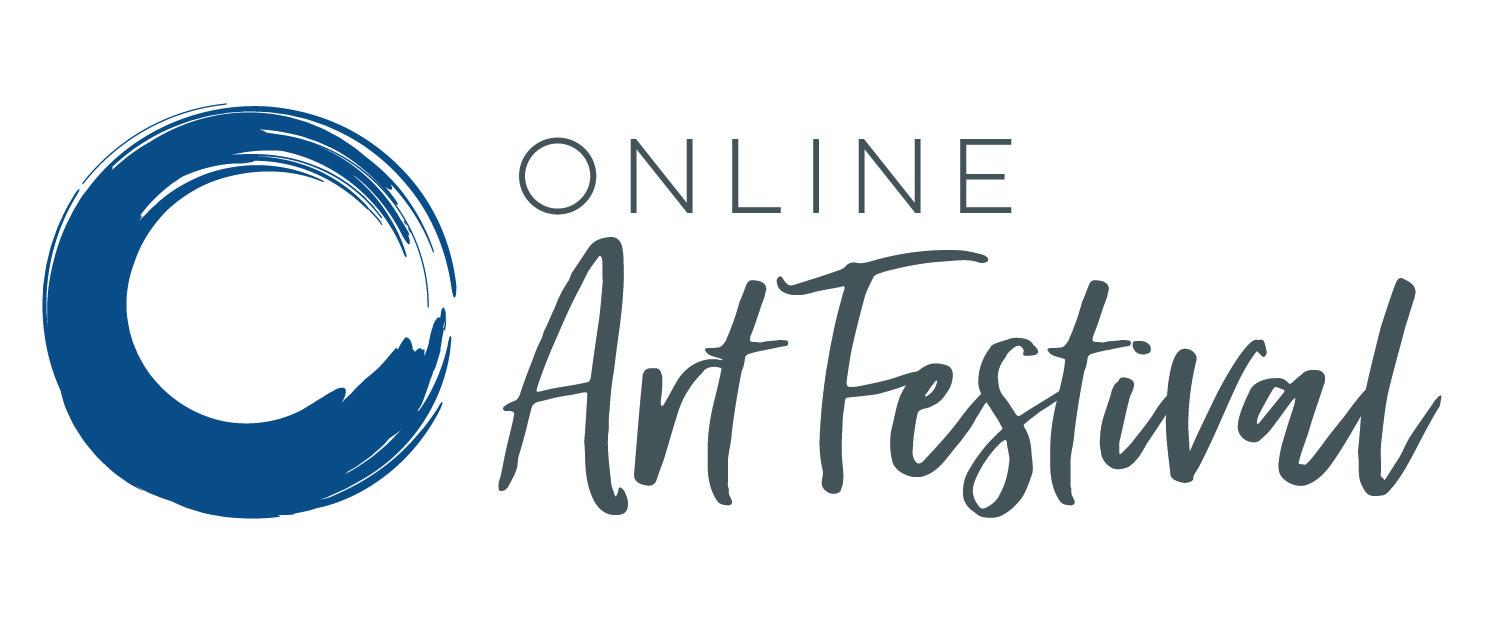 OnlineArtFestival Logo CMYK_Blue Alt