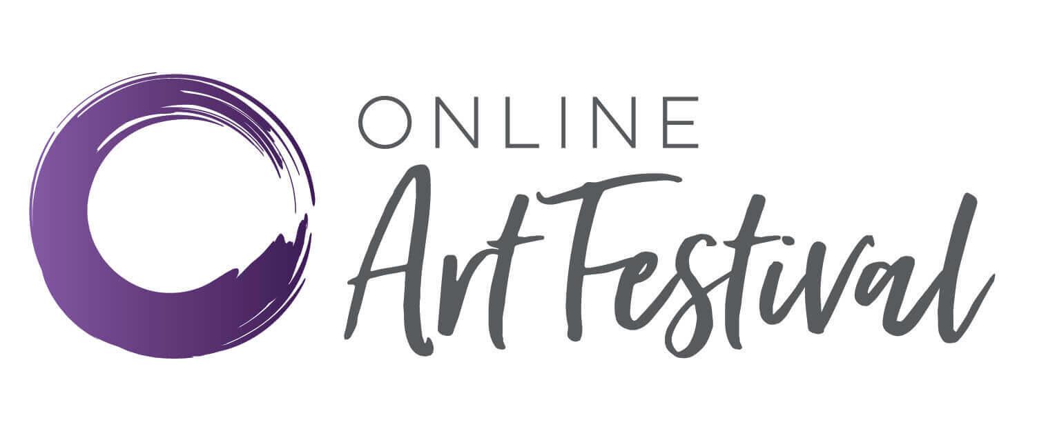 OnlineArtFestival Logo CMYK_Purple Alt
