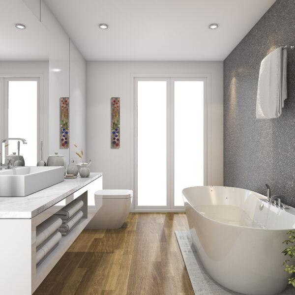 Bubbles-in-bathroom