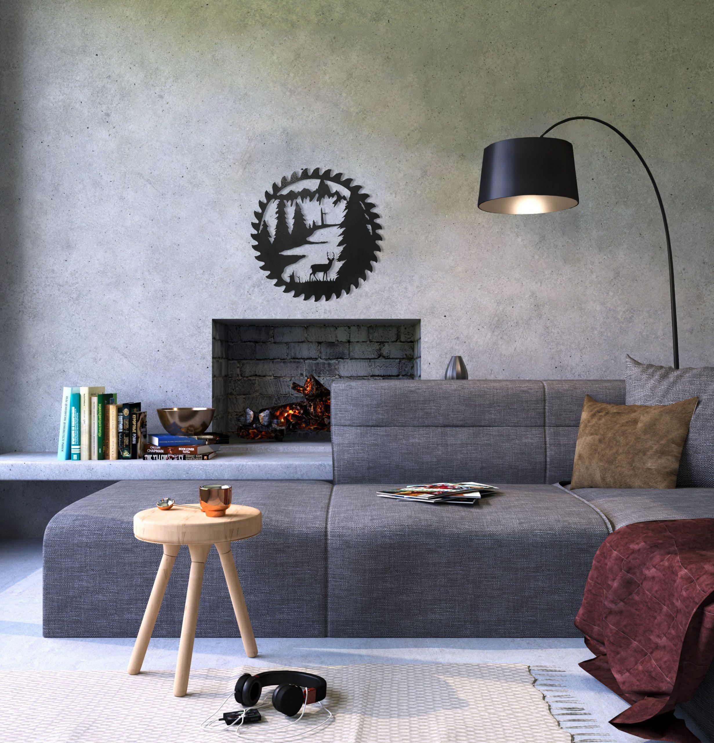 buzz-blade-in-living-room-standing-deer-black-scaled