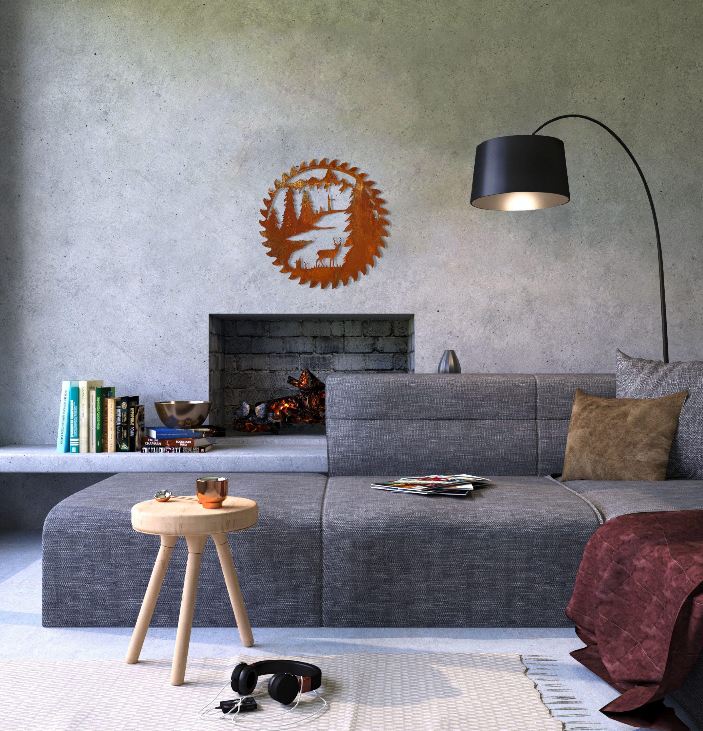 buzz-blade-in-living-room-standing-deer-rust-scaled