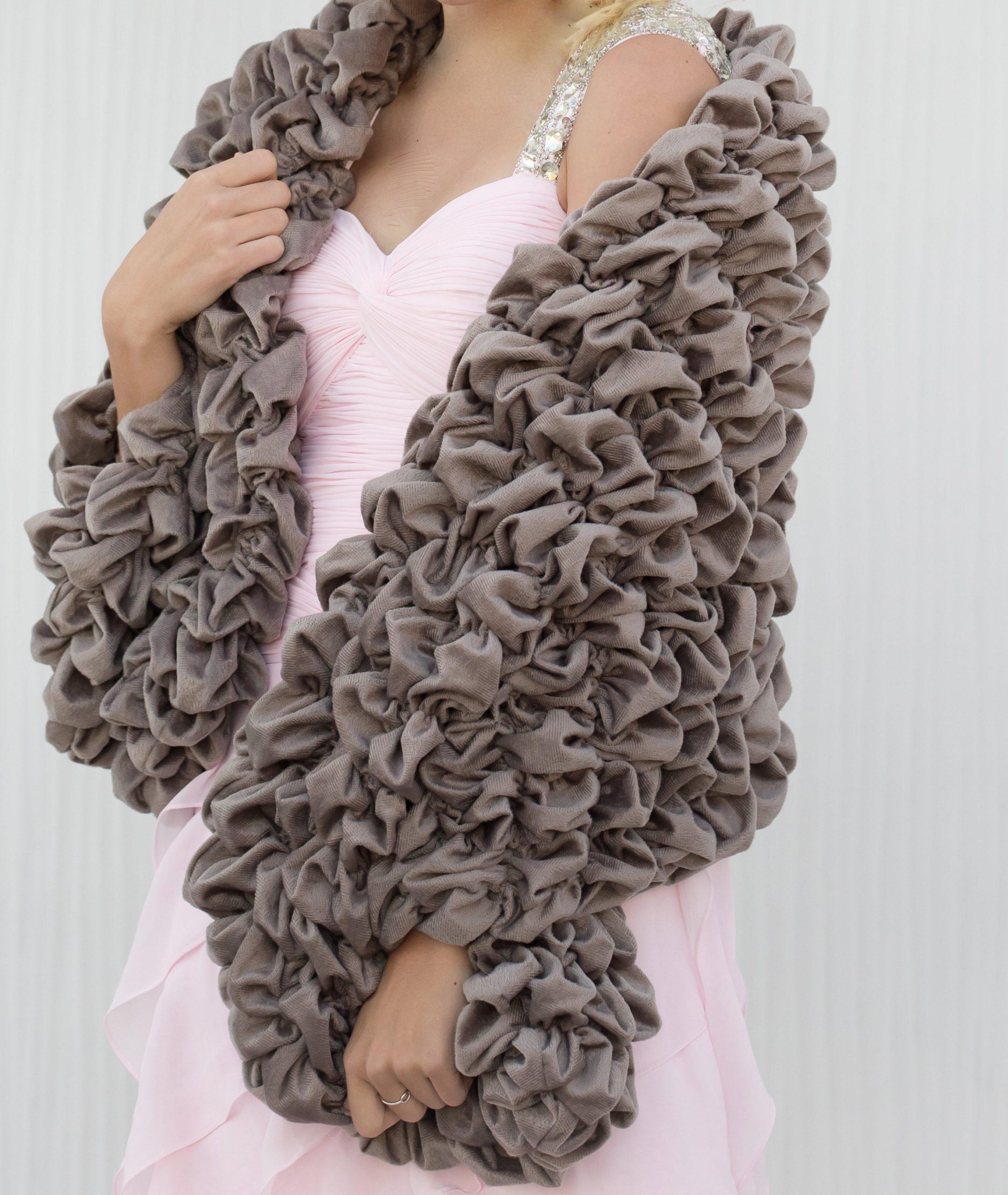 Gray Warm Wrap Stole