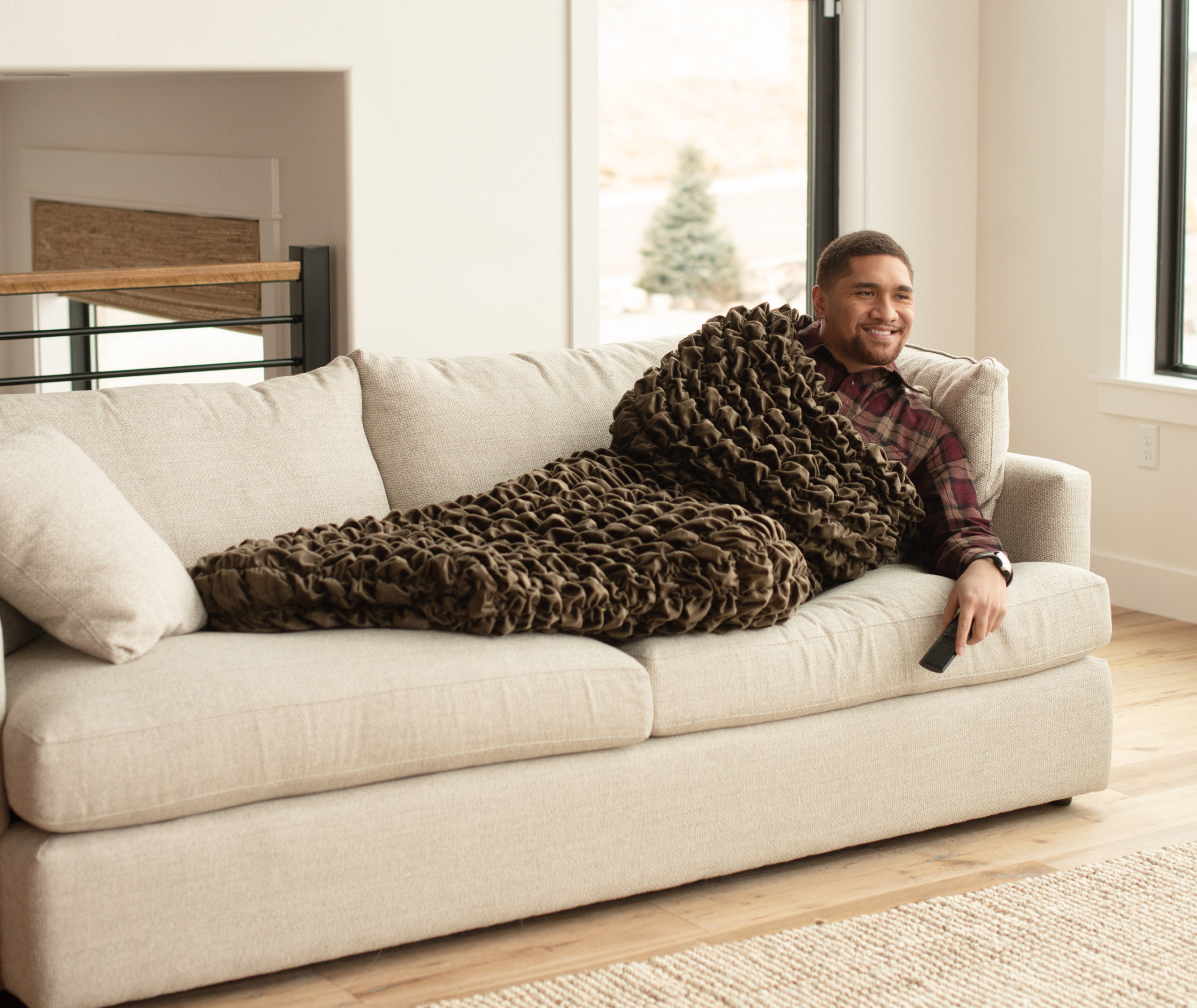 Brown Adult Cocoon Sleep Sack For Teens and Adults