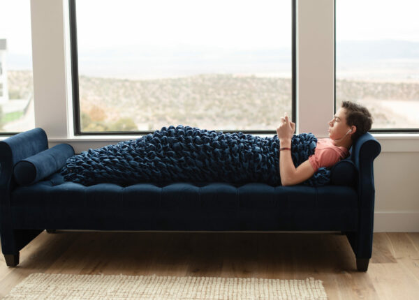 Navy Adult Cocoon Sleep Sack For Teens and Adults