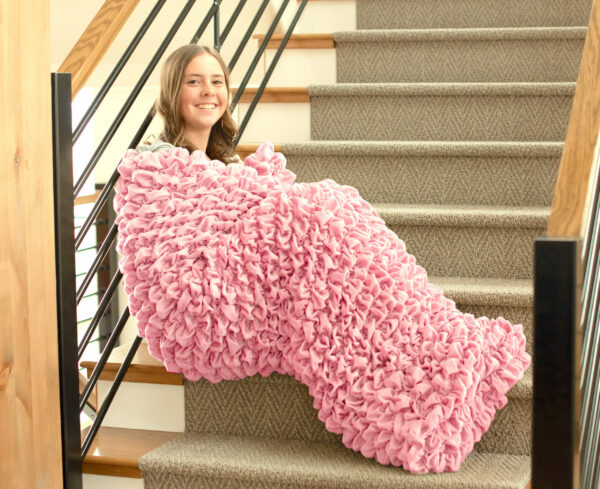 Pale Pink Adult Cocoon Sleep Sack For Teens and Adults