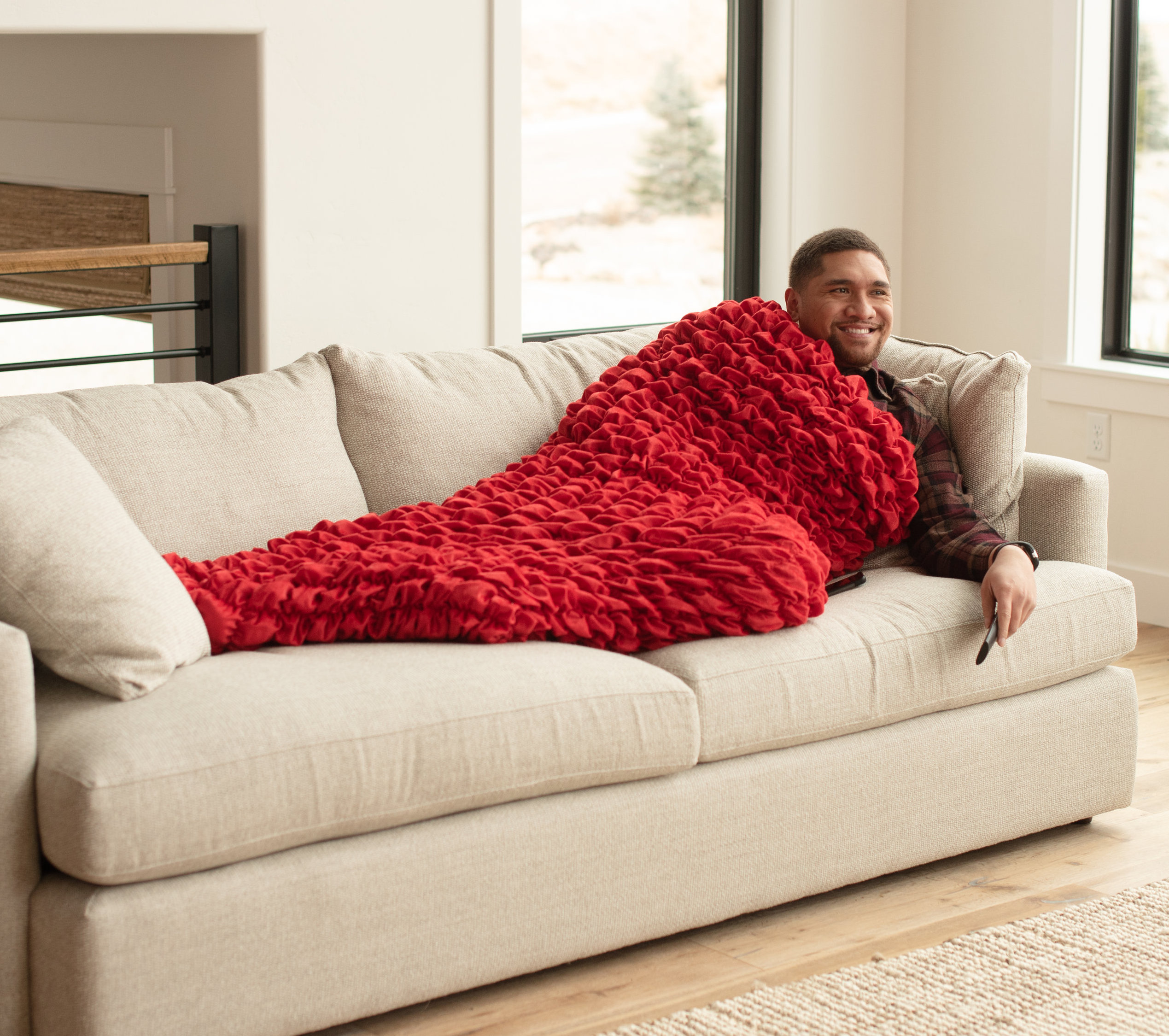 Red Adult Cocoon Sleep Sack For Teens and Adults
