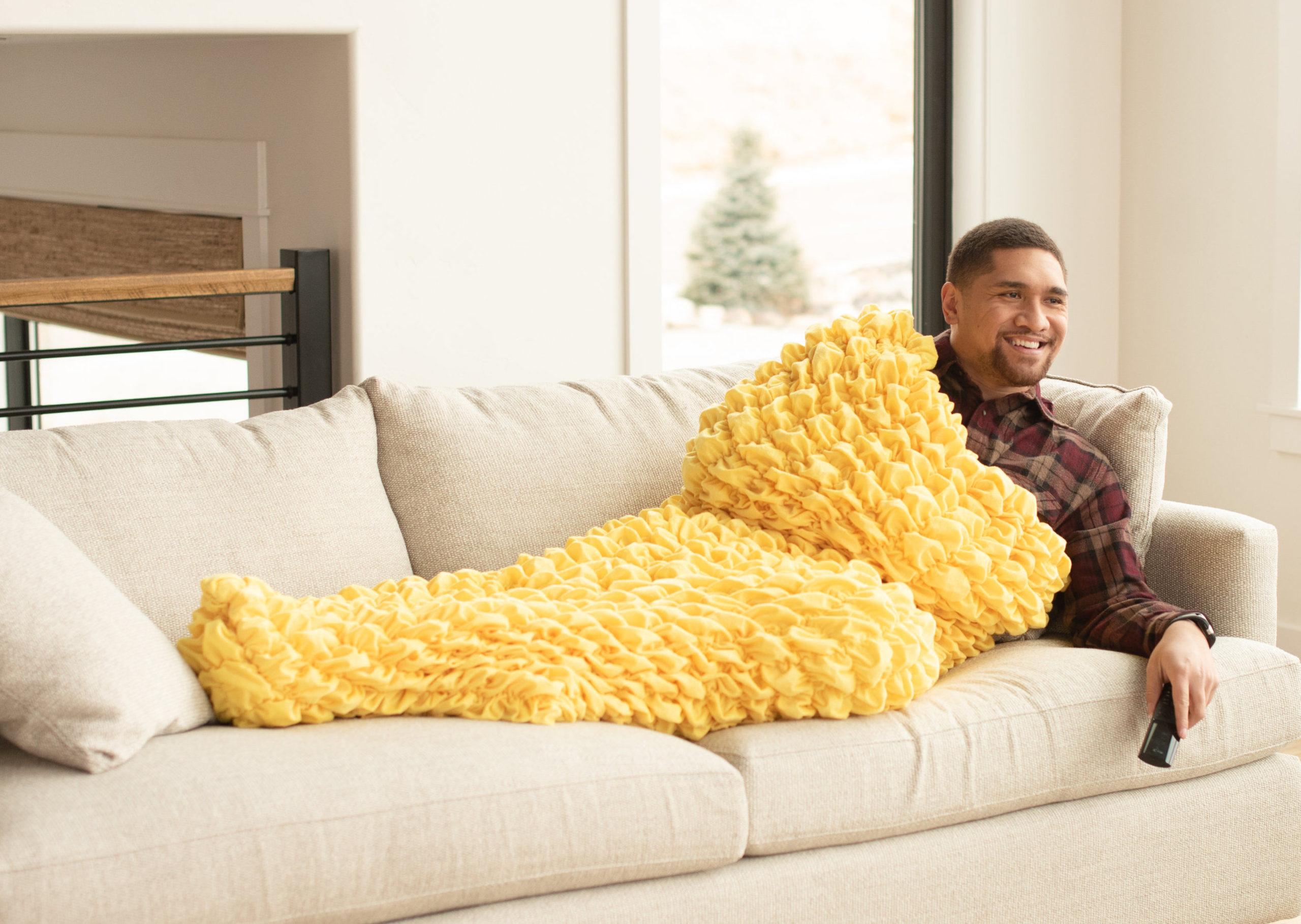 Yellow Adult Cocoon Sleep Sack For Teens and Adults