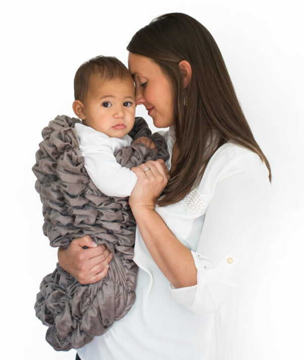 Gray Baby Cocoon Swaddle Sack