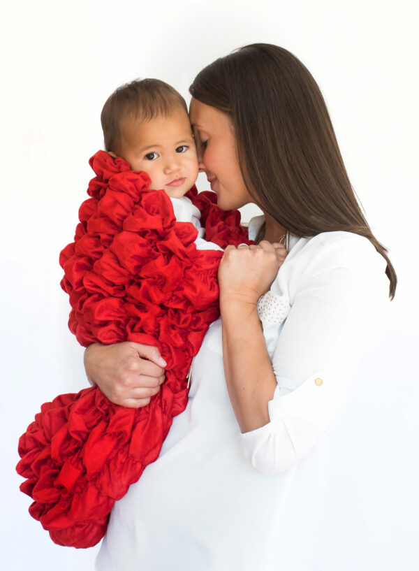 Red Baby Cocoon Swaddle Sack