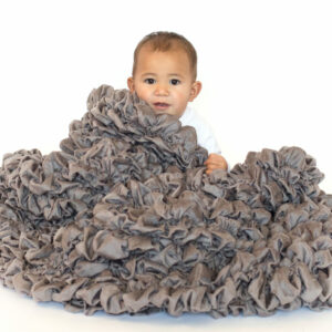 Gray Designer Crib Throw Albrea