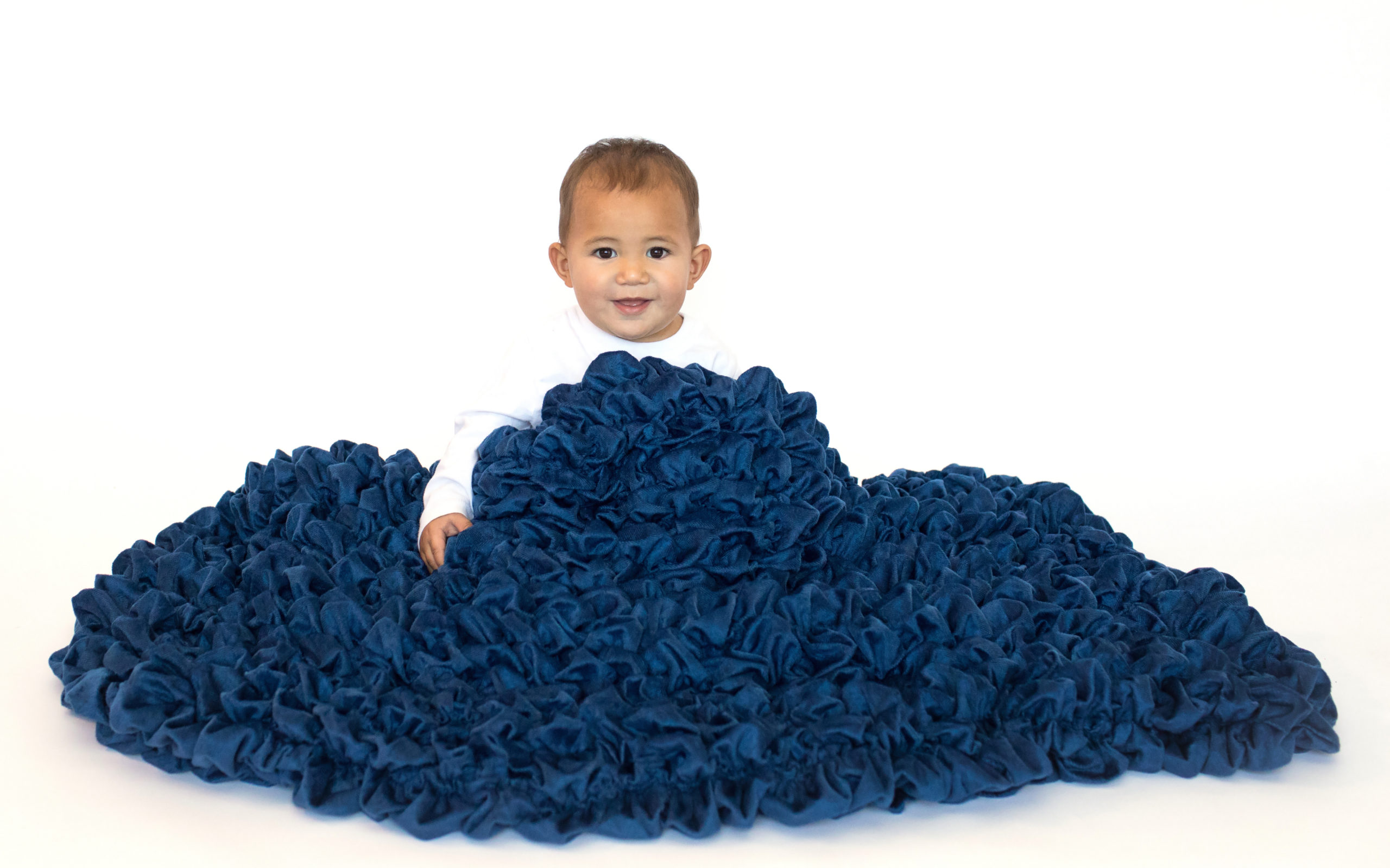 Navy blue high end crib blanket