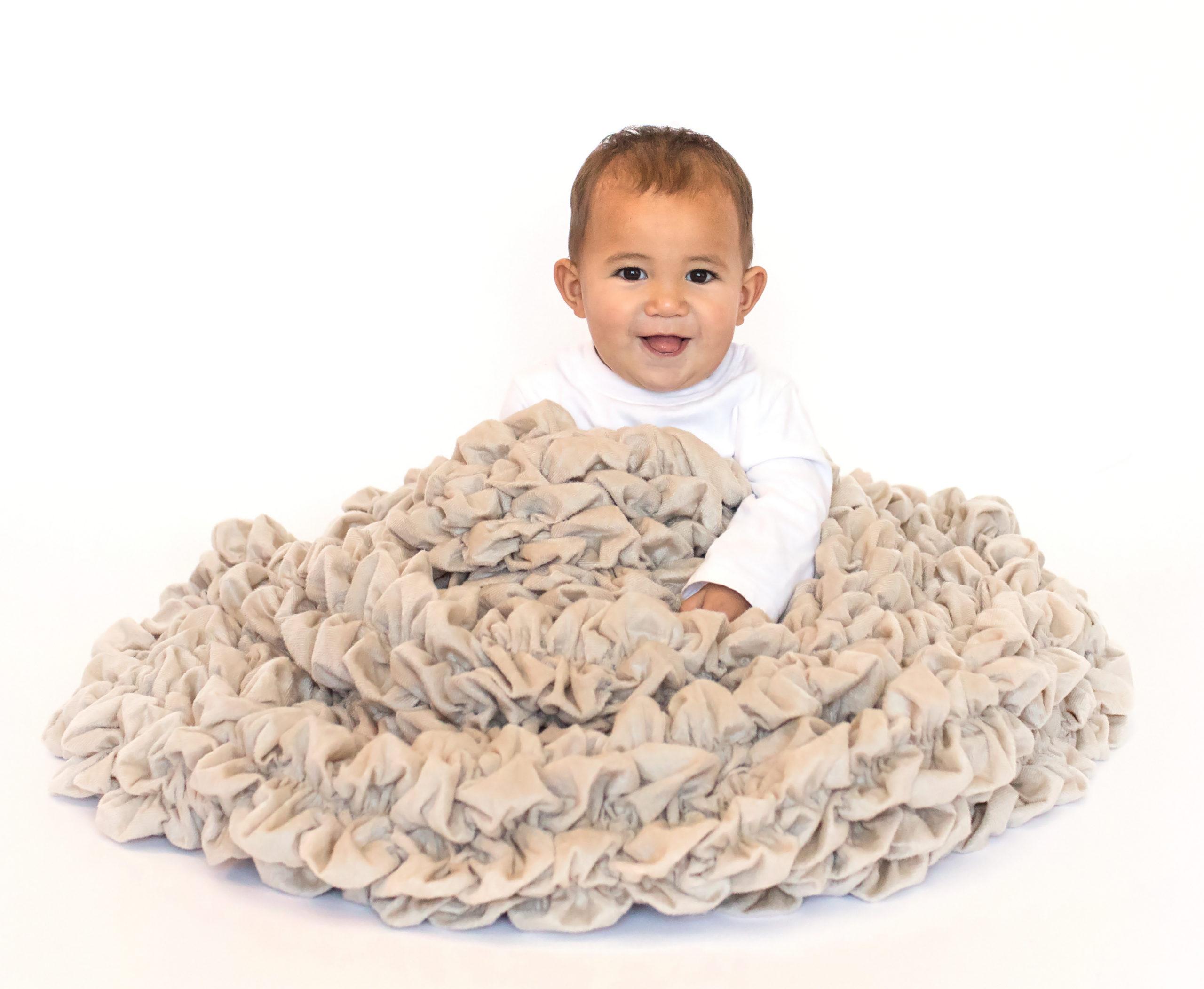 Tan Beige Crib Blanket