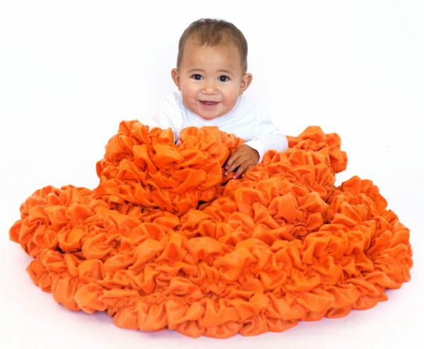 Orange Crib Blanket