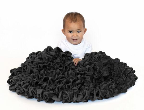 Black Crib Throw USA