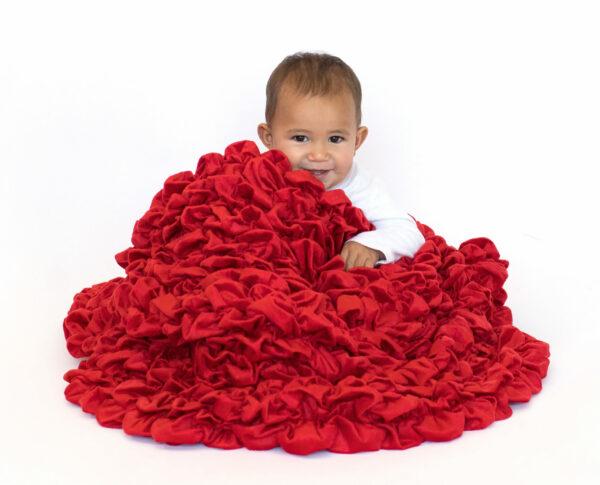 Red Crib Blanket