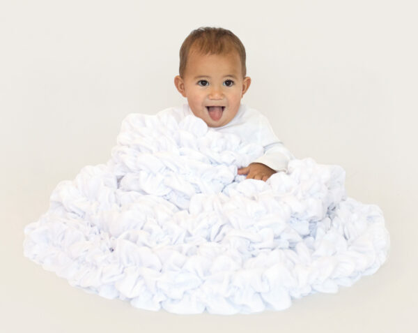 White Baby Blanket Crib