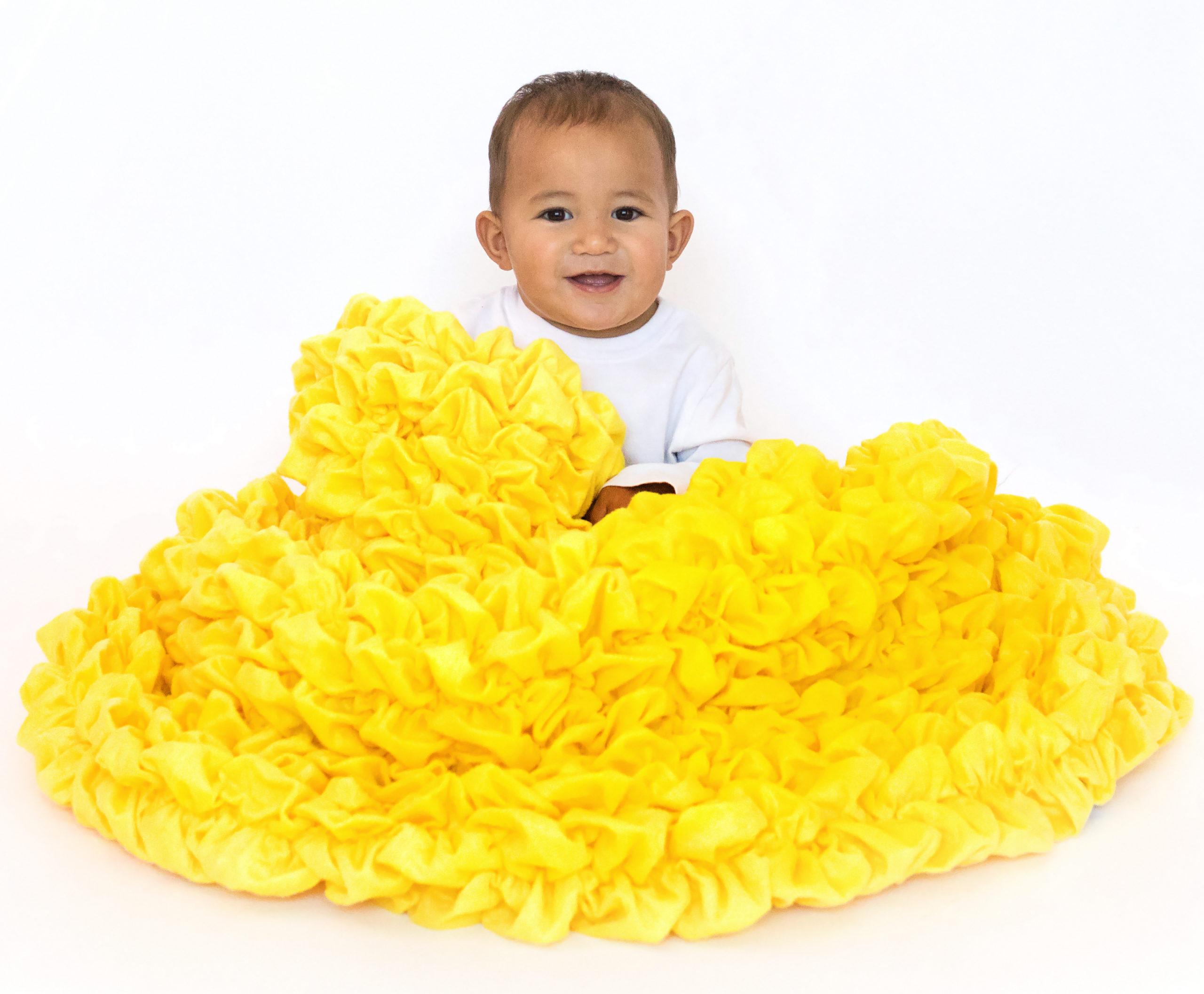 Bright Yellow Crib Throw