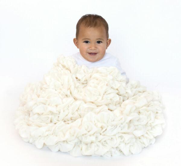 Cream Crib Blanket