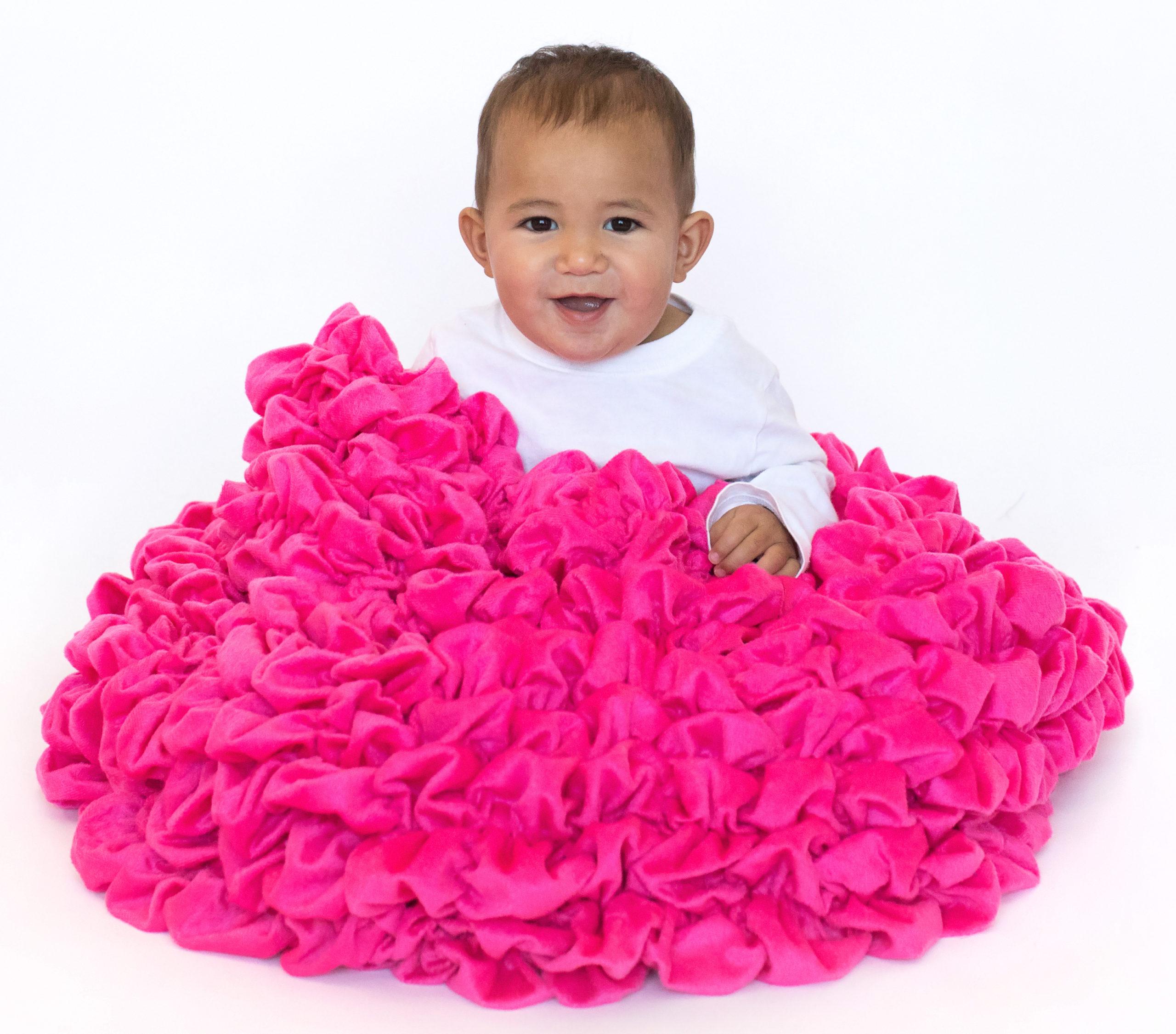 Bright Pink Luxury Crib Throw