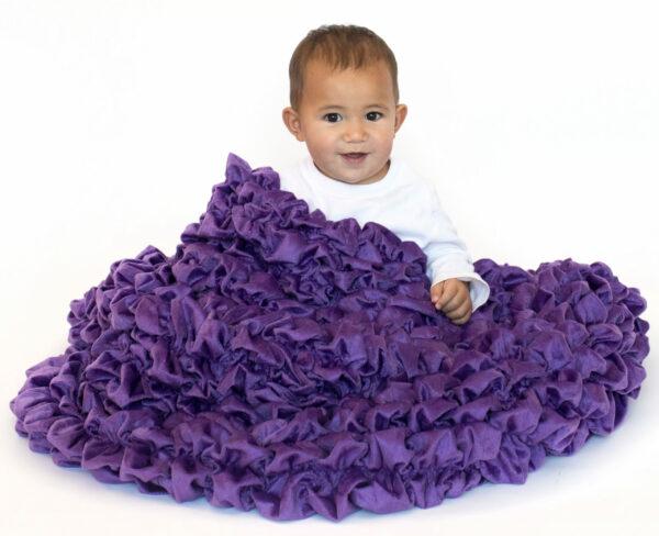 Purple Crib Throw