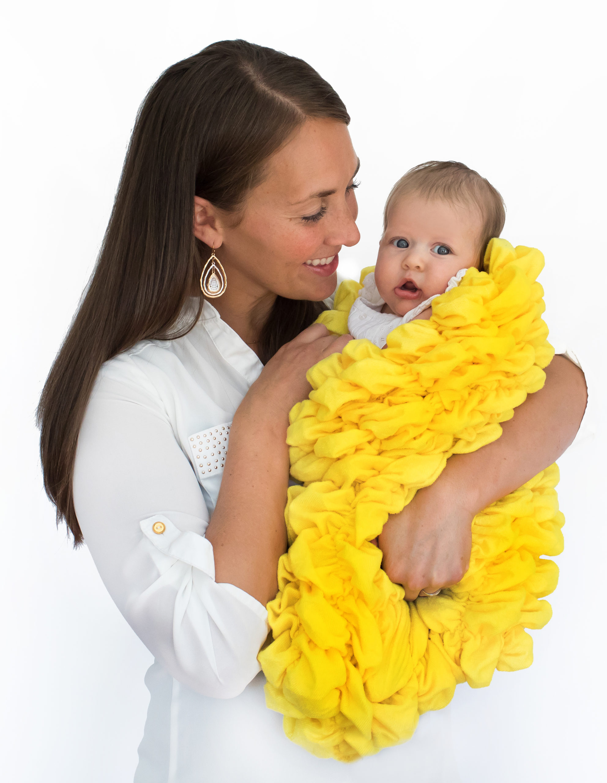 Yellow Baby Cocoon Swaddle Sack