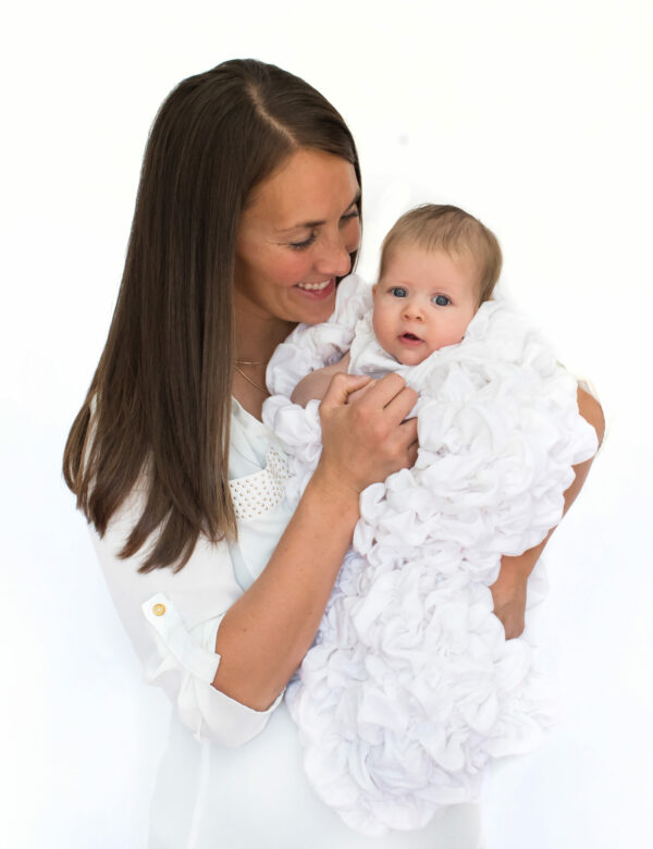 White Baby Cocoon Swaddle Sack