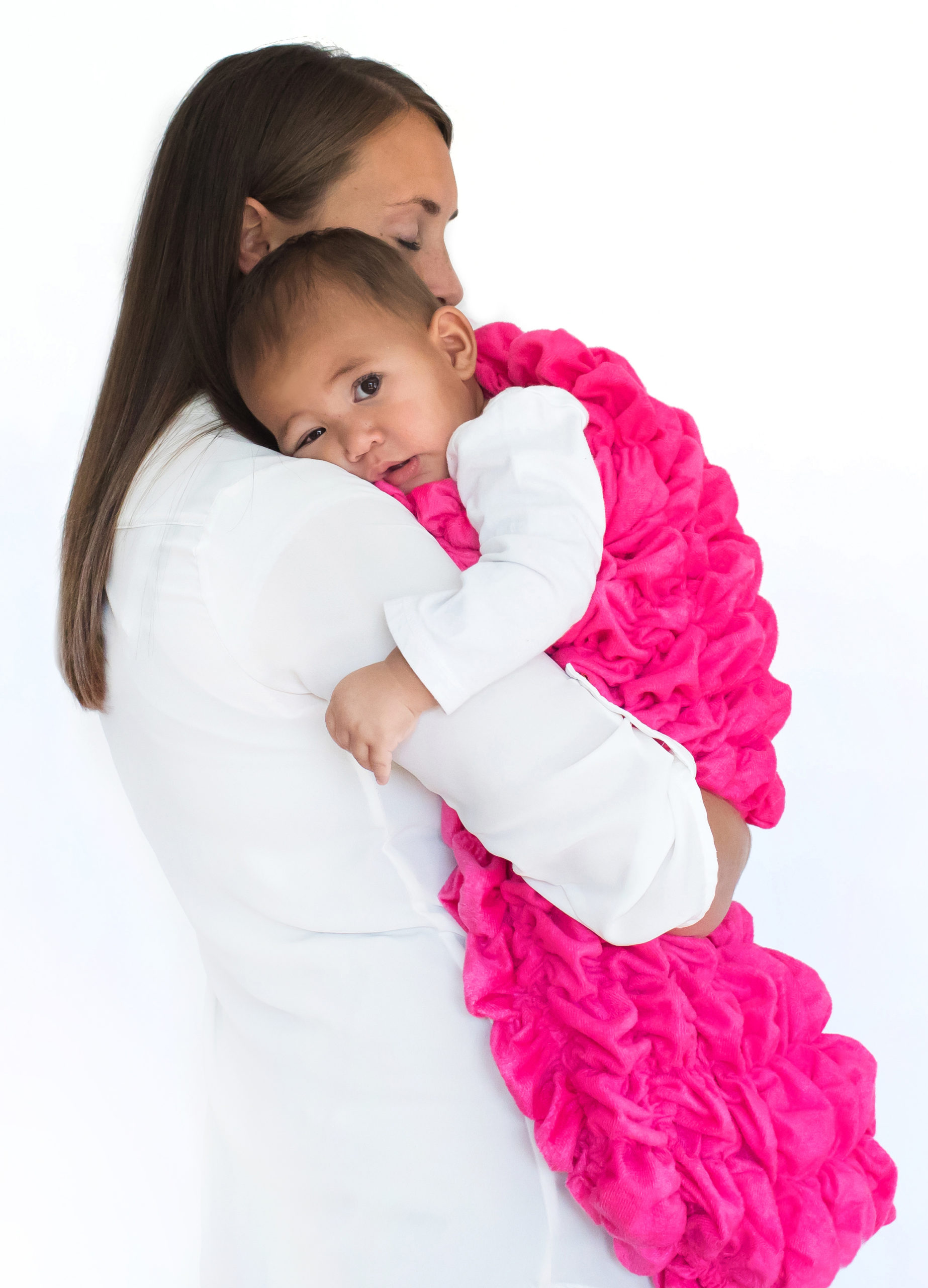 Bright Pink Baby Cocoon Swaddle Sack