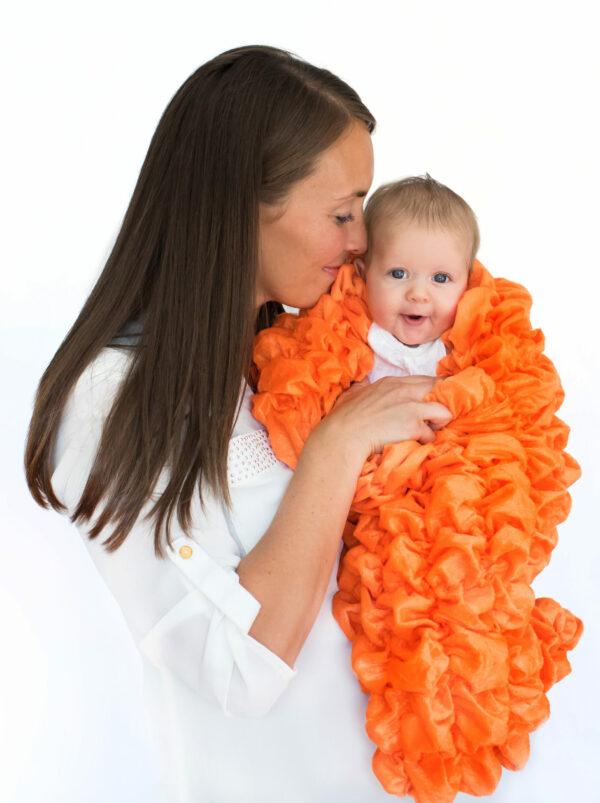 Orange Baby Cocoon Swaddle Sack