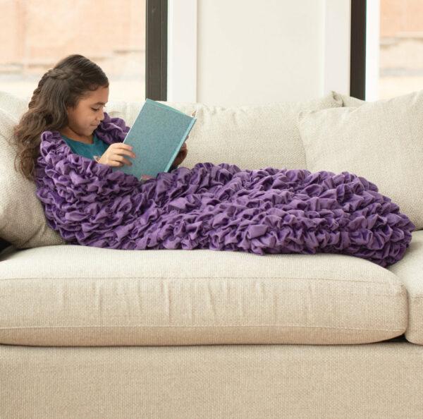 Purple Kids Cocoon Blanket