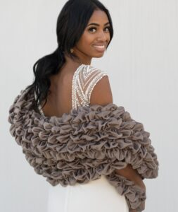 Luxurious Stole Wrap Gray