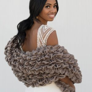 Luxurious Stole Wrap Gray