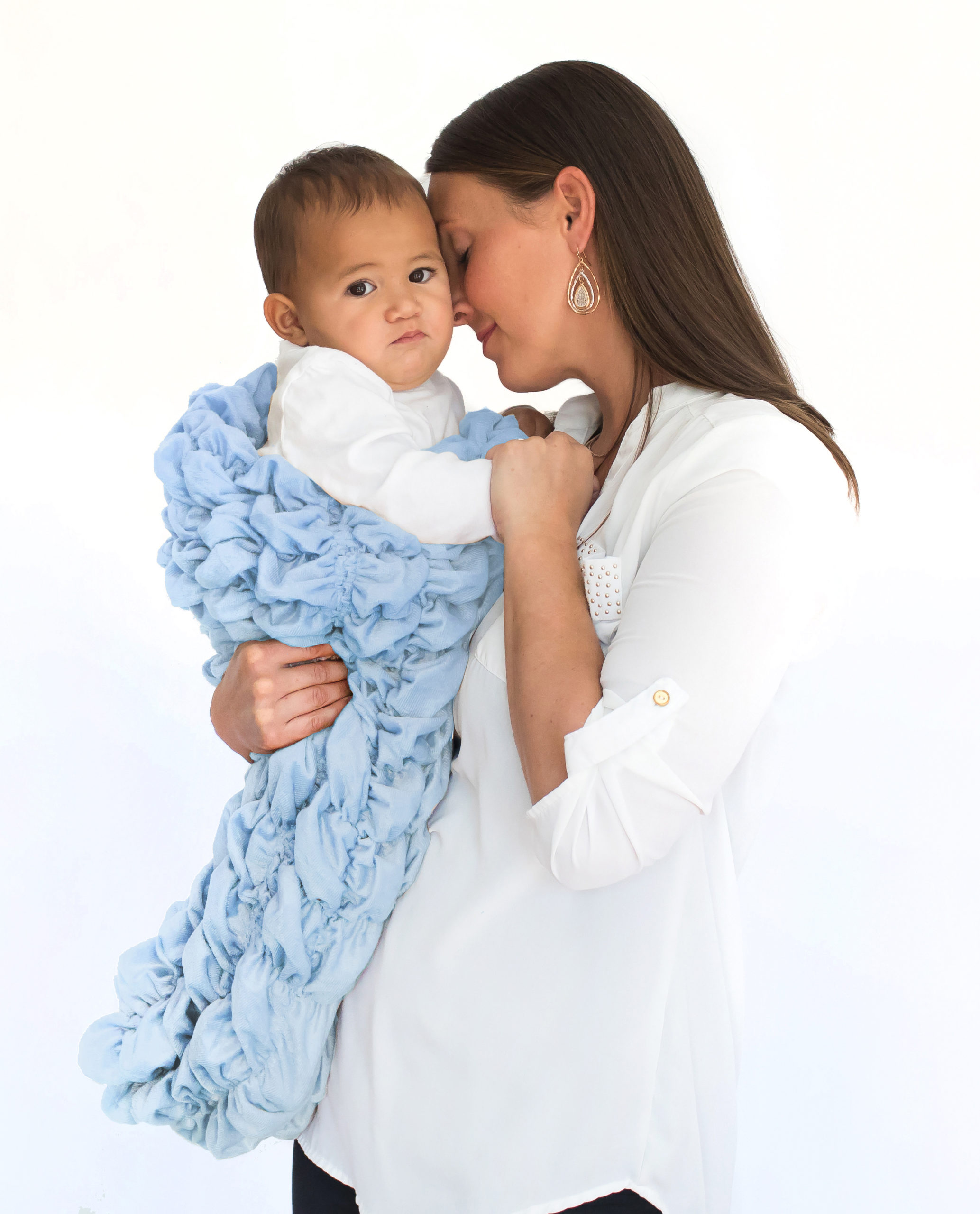 Pale Blue Baby Cocoon Swaddle Sack