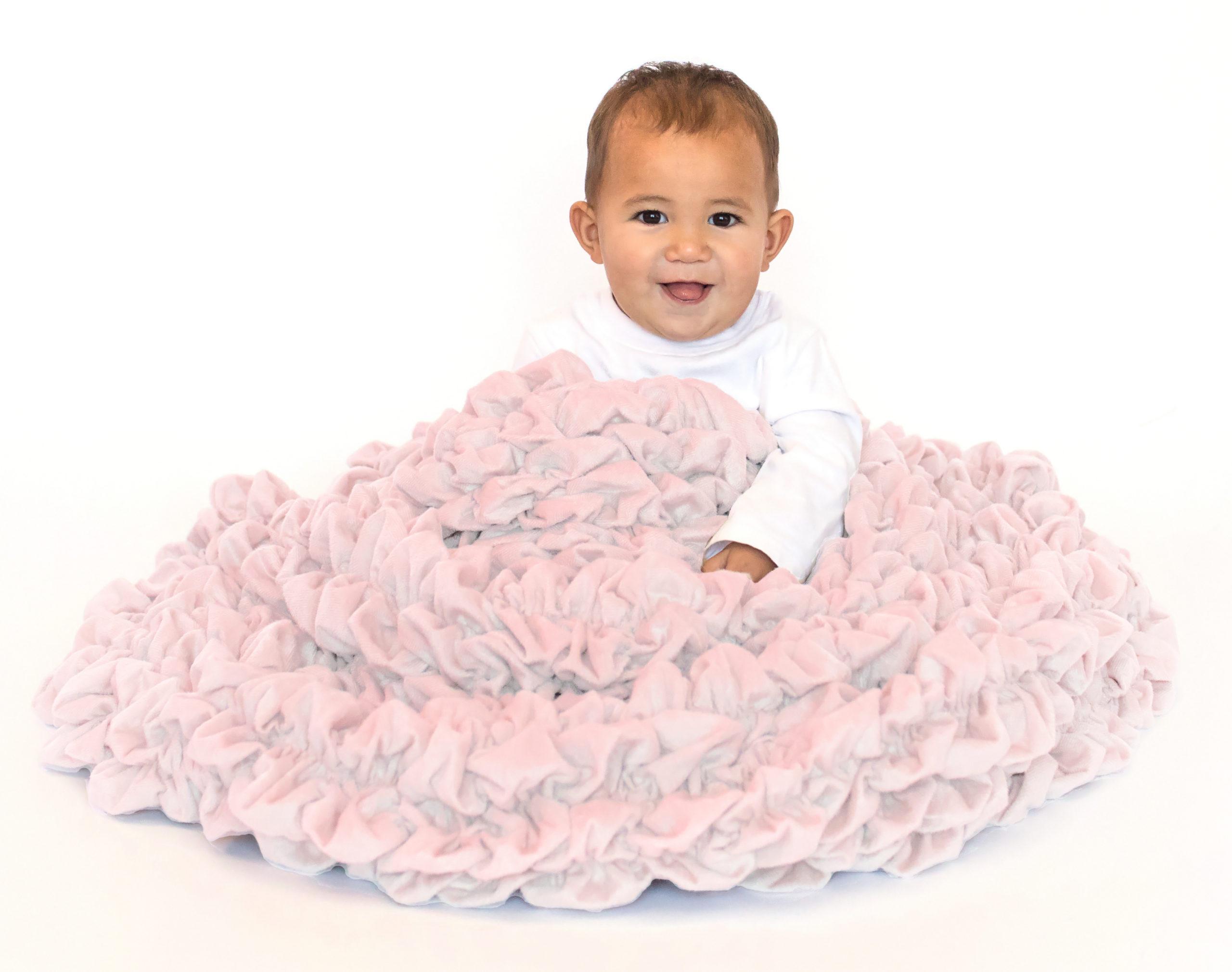 Pale Pink Blush Crib Throw
