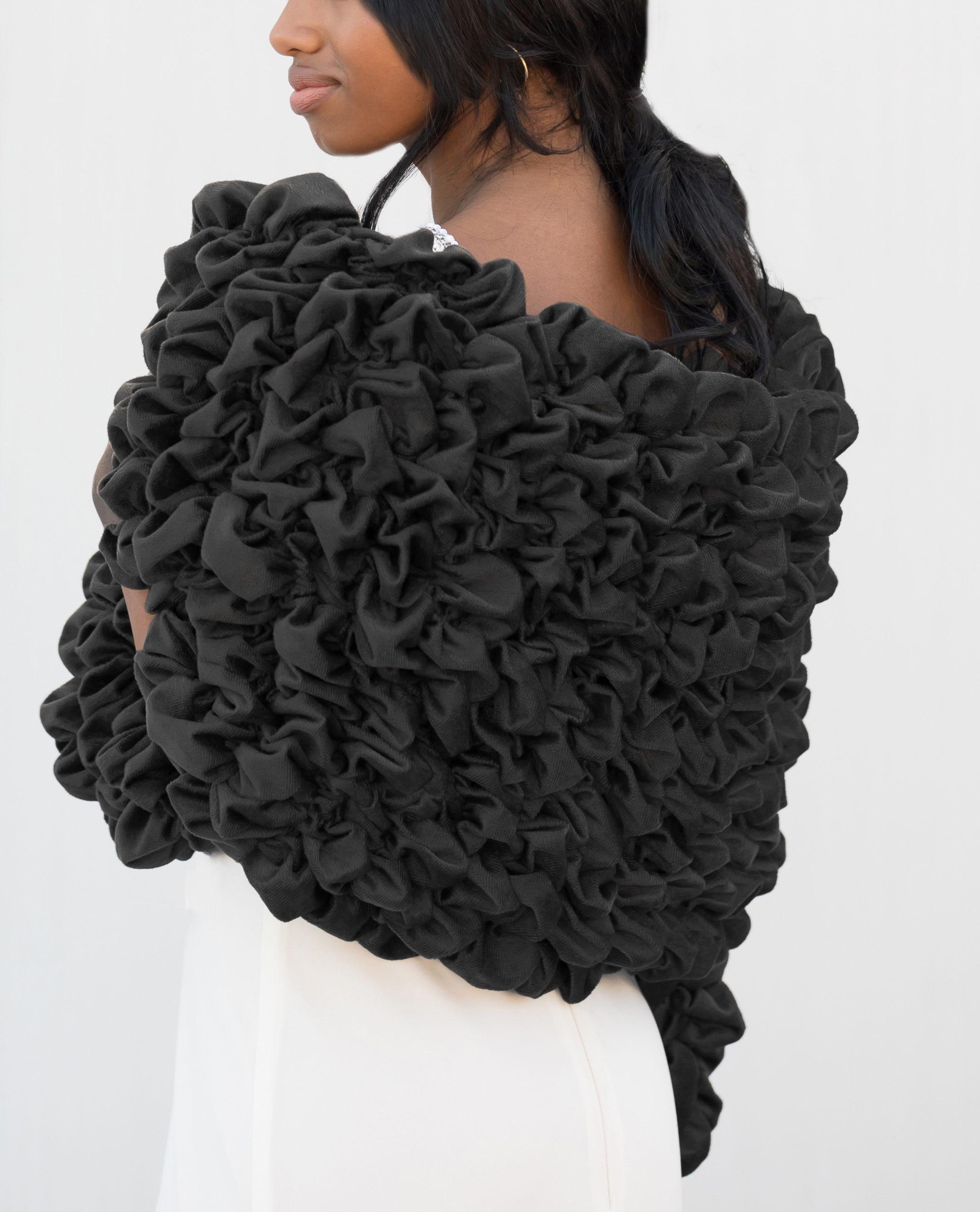 Black Tie Formal Stole for Women