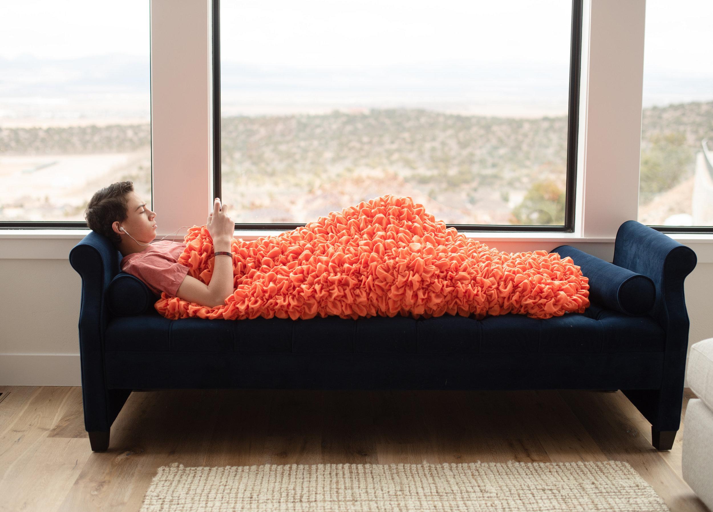 Orange Adult Cocoon Sleep Sack For Teens and Adults