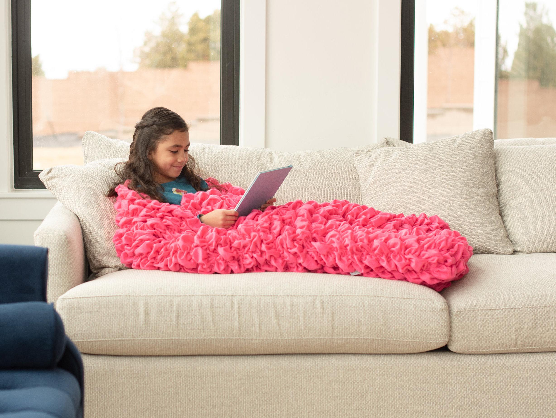 Bright Pink Kids Cocoon Blanket