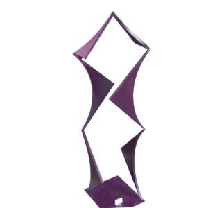 purple geo triangles