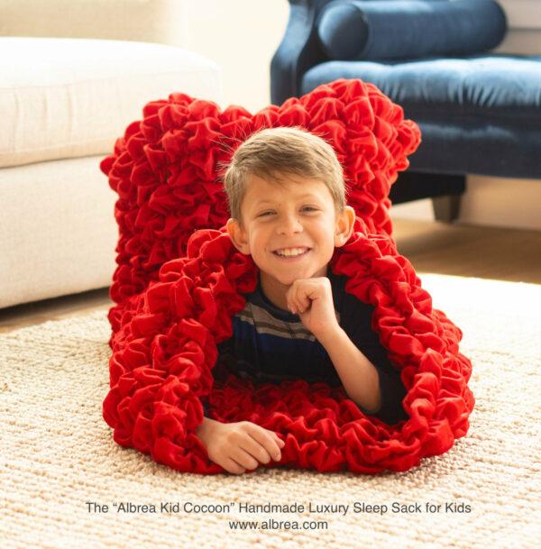 Red Kids Cocoon Blanket