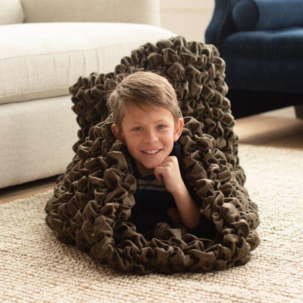 Brown Kids Cocoon Blanket