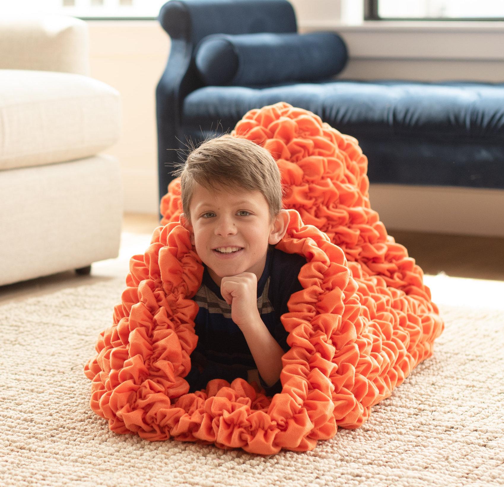 Orange Kids Cocoon Blanket
