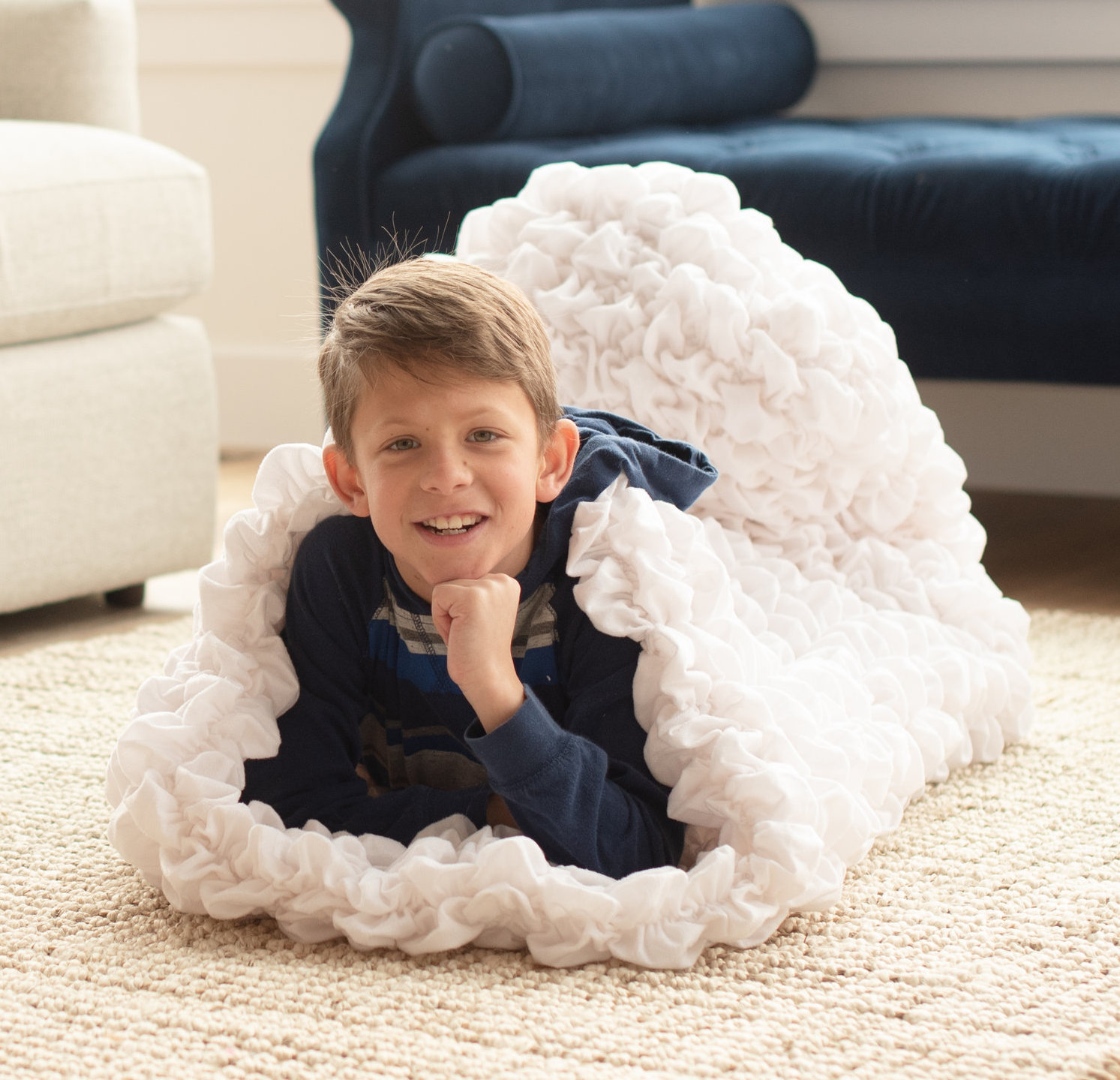 White Child Cocoon Weighted Blanket